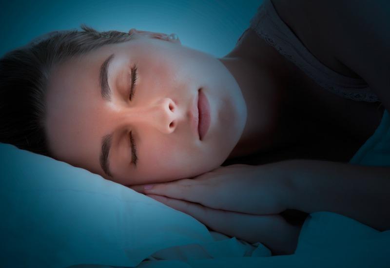 Woman sleeping close up