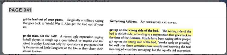 wrong side of the bed usage example