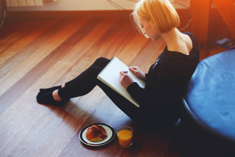 Writing your worries down before bed can help you clear your thoughts. How To Unwind From Work At Night, by Dr Susan Biali, from The Sleep Matters Club.
